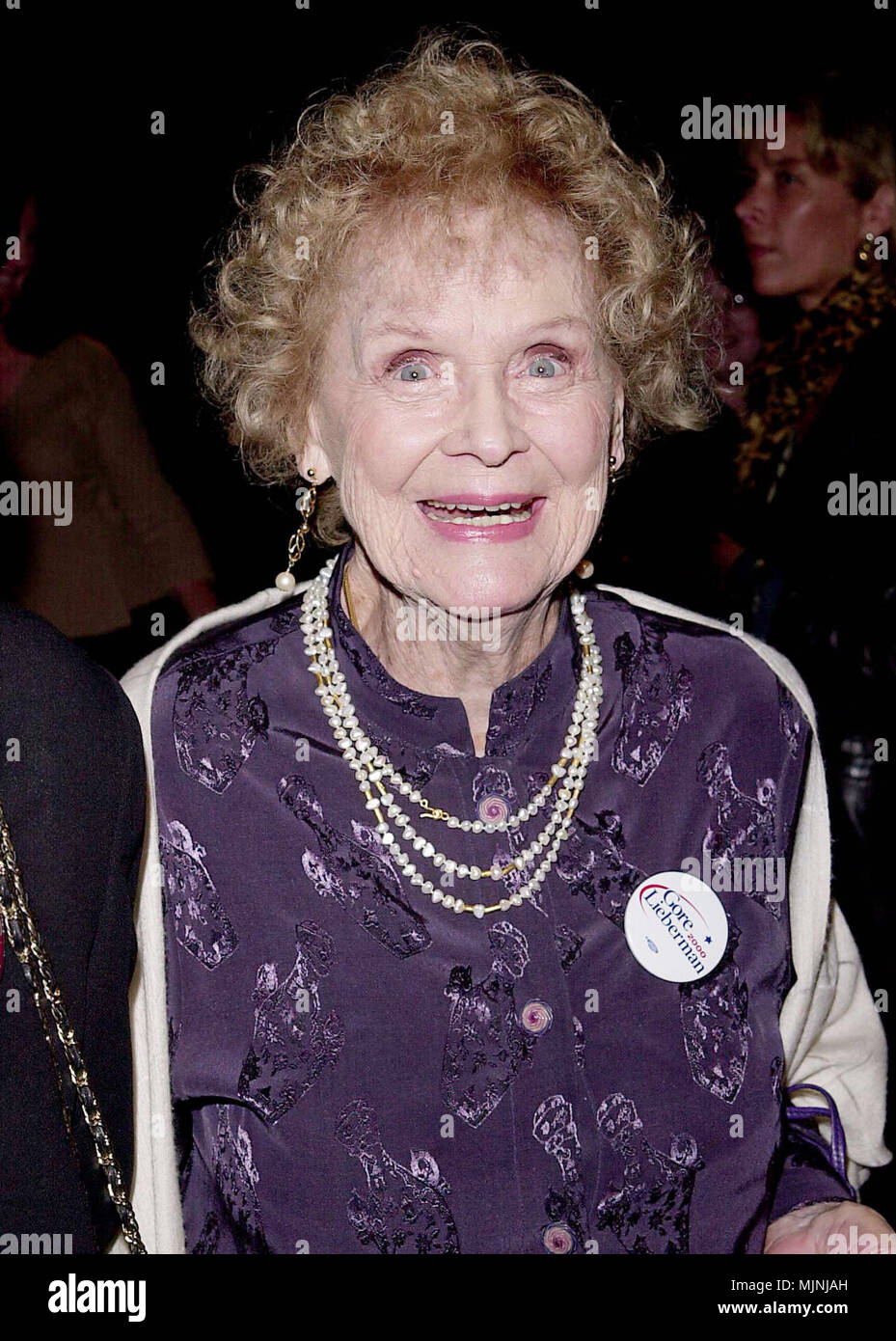 24 Oct 2000, Los Angeles, California, USA --- Original caption: Lucky Number Premiere was on the Paramount lot, in Los Angeles. --- ' Tsuni / - 'Gloria Stuart 278 Gloria Stuart 278 - Stock Image