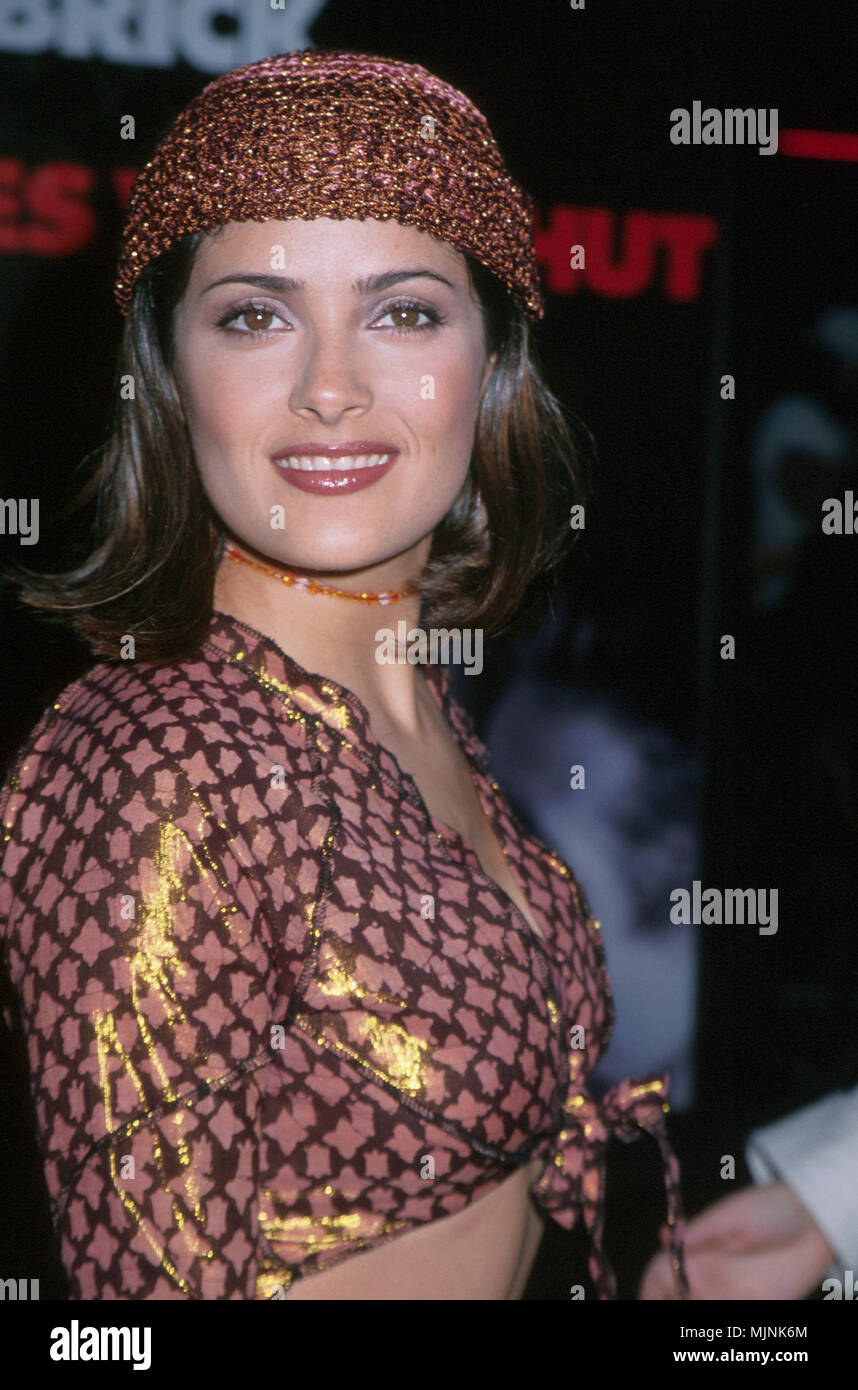 13 Jul 1999, Los Angeles, California, USA --- Original caption: The one and only drop dead gorgeous actress Salma Hayek is shown arriving at the premiere of Eyes Wide Shut, held at the Mann's Village Theater. --- ' Tsuni / - 'Salma Hayek  246 Salma Hayek  246 - Stock Image