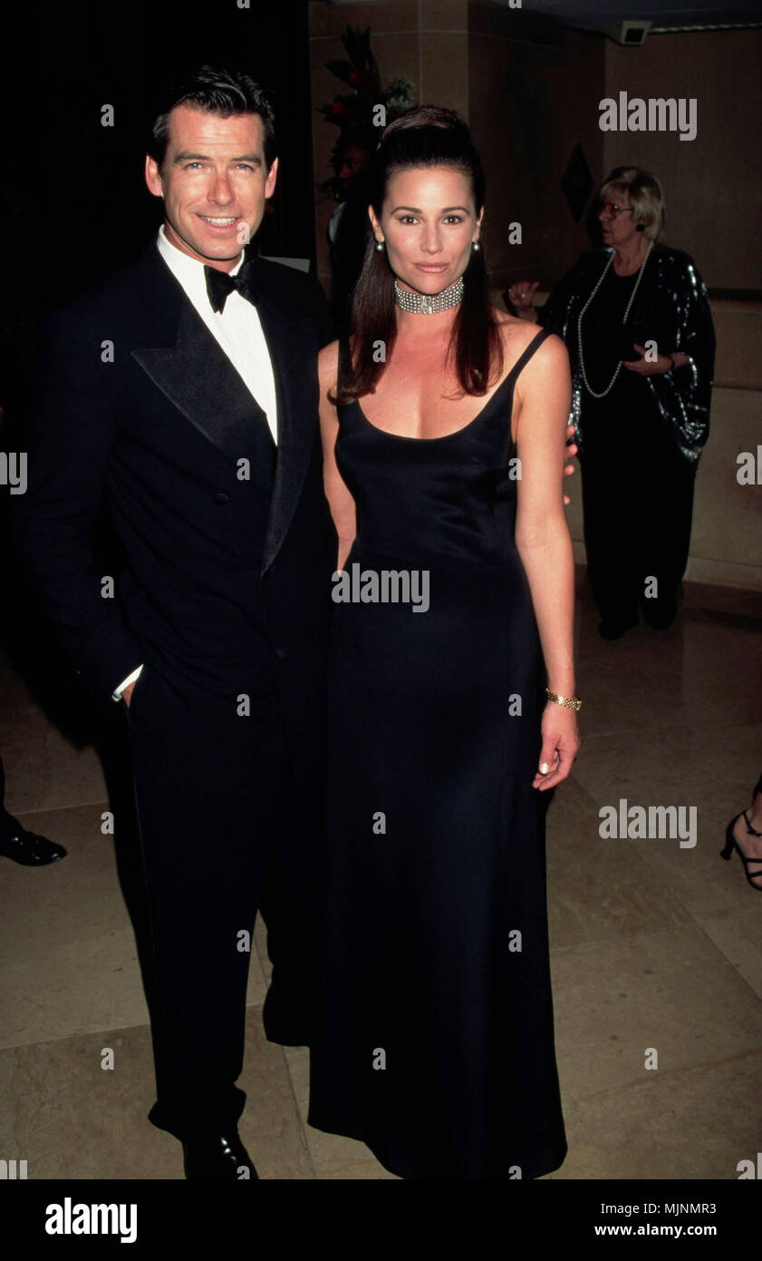 March 1996 Los Angeles California Usa Actor Pierce Brosnan And His Girlfriend Keely Shaye Smith Attend The 1996 Genesis Awards At The Beverly Hilton Hotel Tsuni Usa Pierce Brosnan