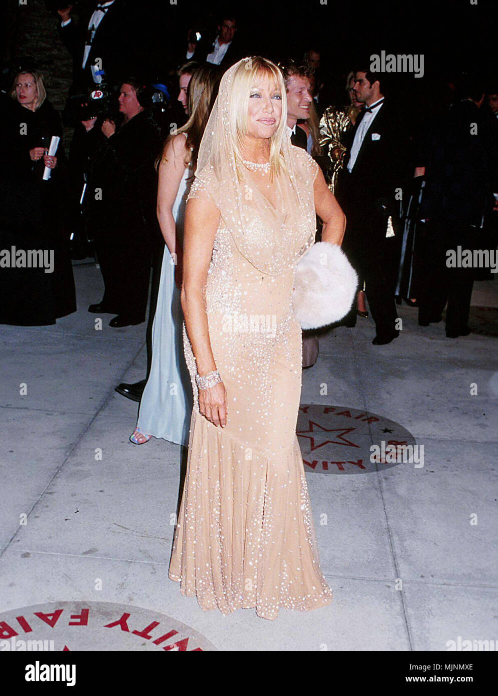Suzanne Somers In A Tan Evening Dress Red Carpet Event Stock Photos ...