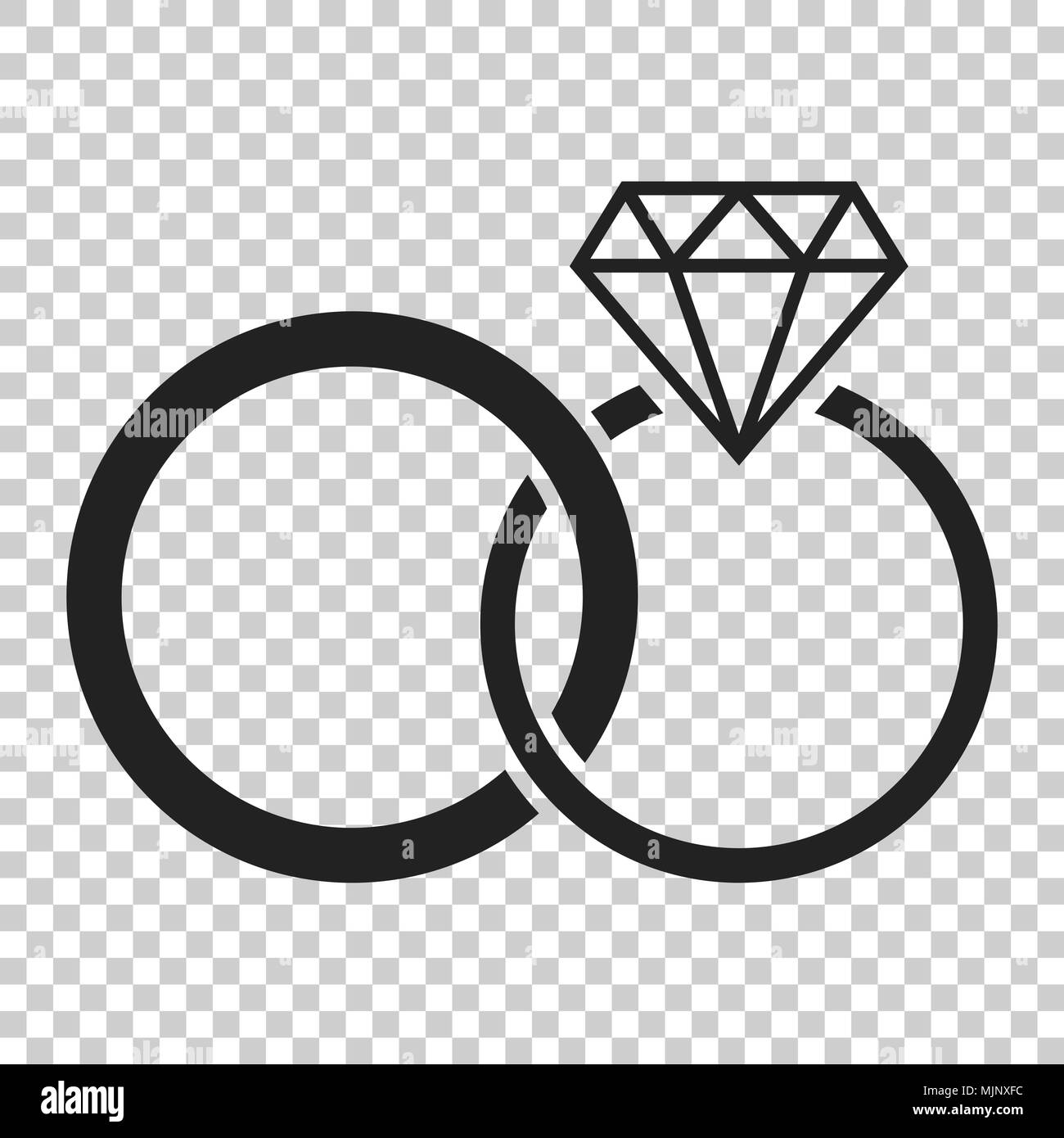 Engagement Ring With Diamond Vector Icon In Flat Style Wedding Jewelery Illustration On Isolated Transparent Background Romance Relationship Co: Icon Wedding Ring Bride At Reisefeber.org