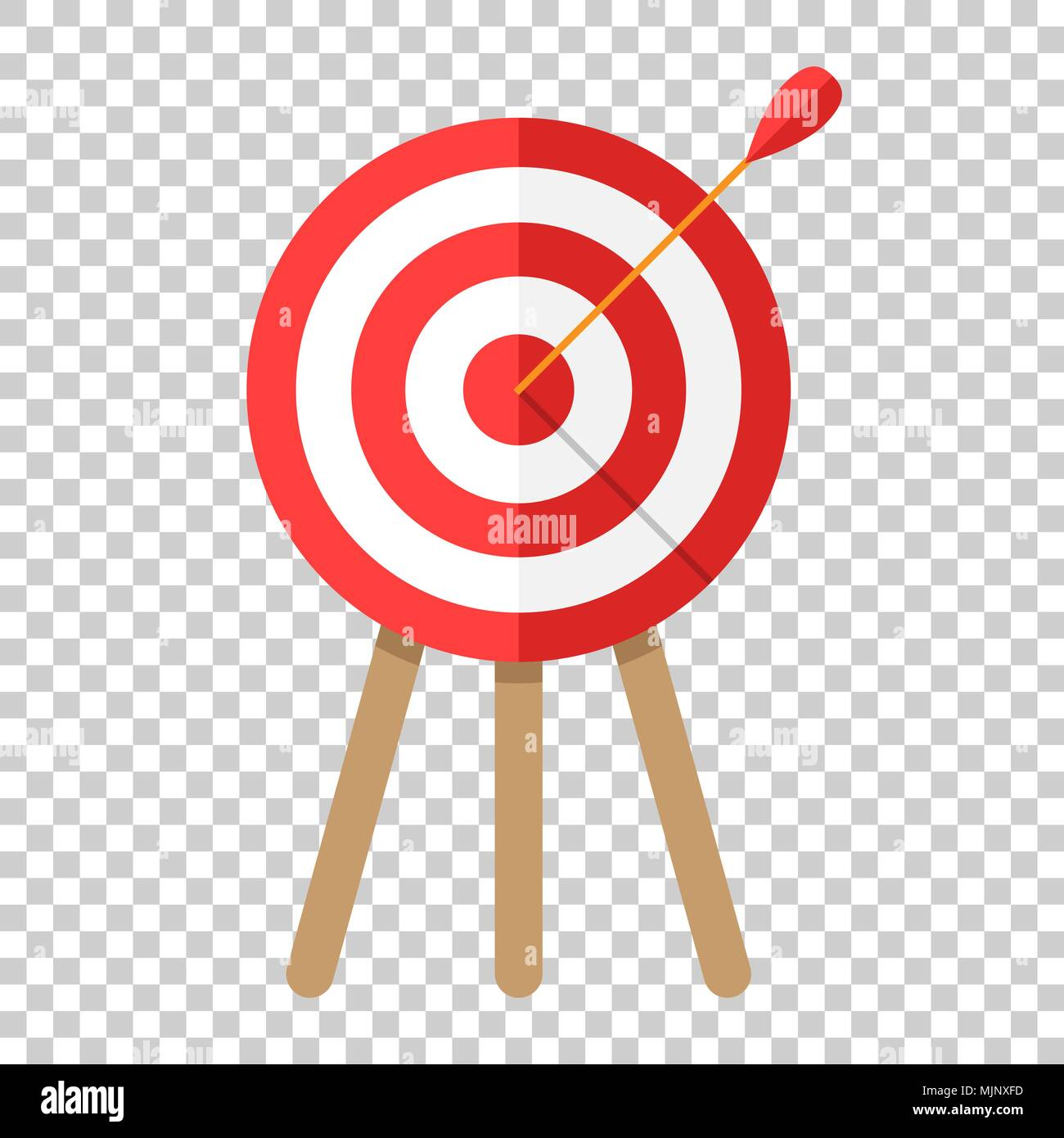 Target Aim Vector Icon In Flat Style Darts Game Illustration On Isolated Transparent Background Dartboard Sport Concept
