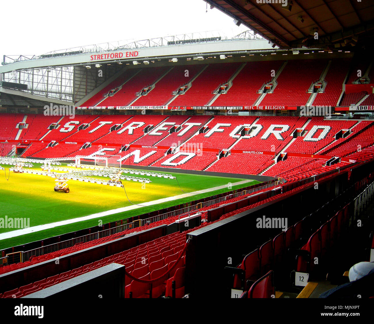 Inside Manchester United football stadium - Stock Image