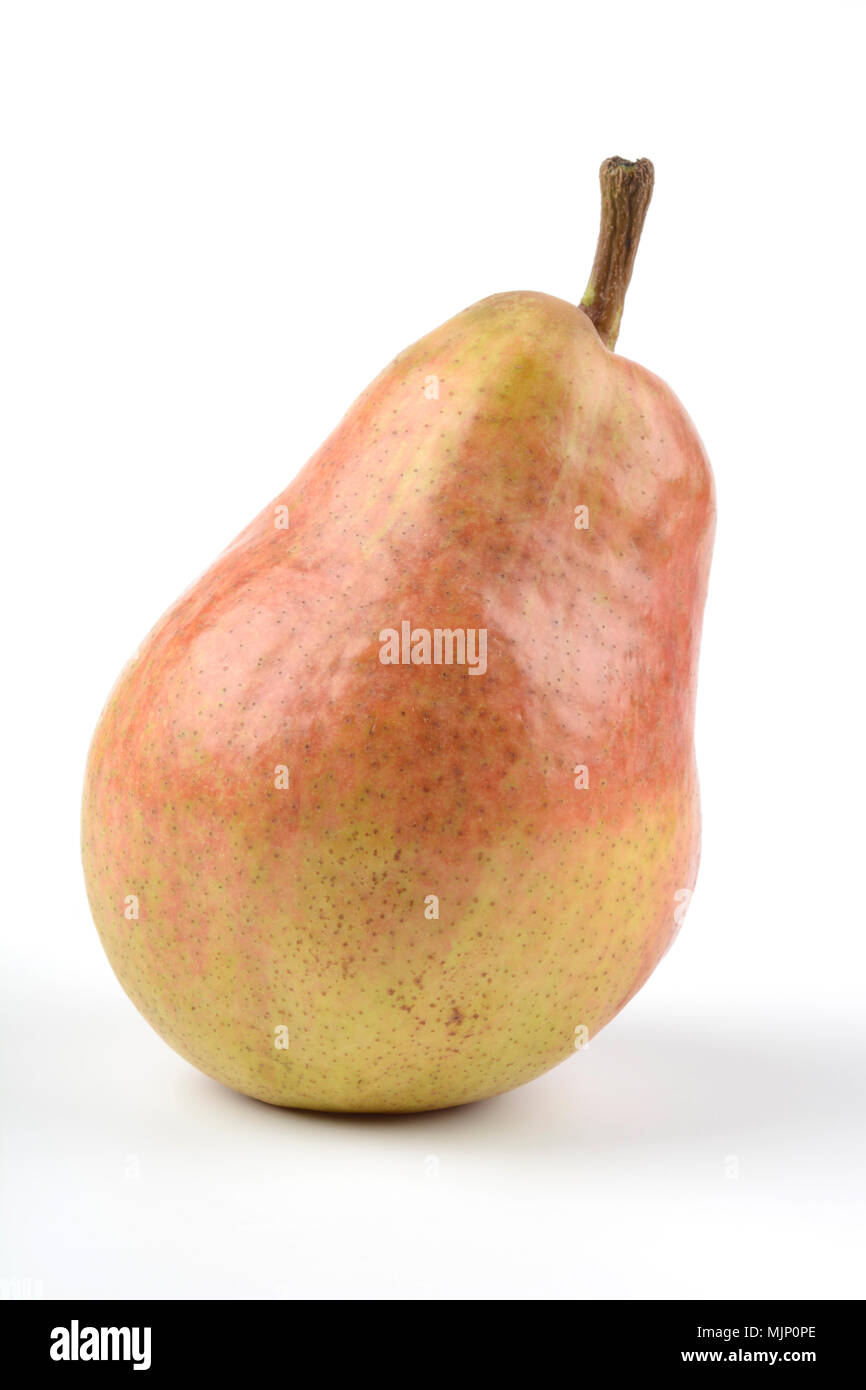 Pear on white background, one item - Stock Image