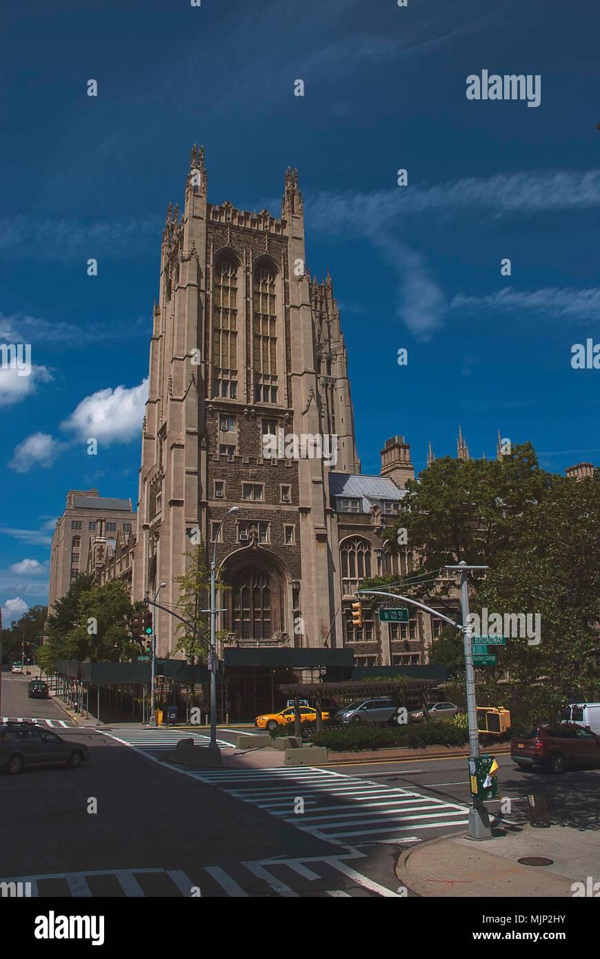 Riverside Church, Morningside, New York - Stock Image