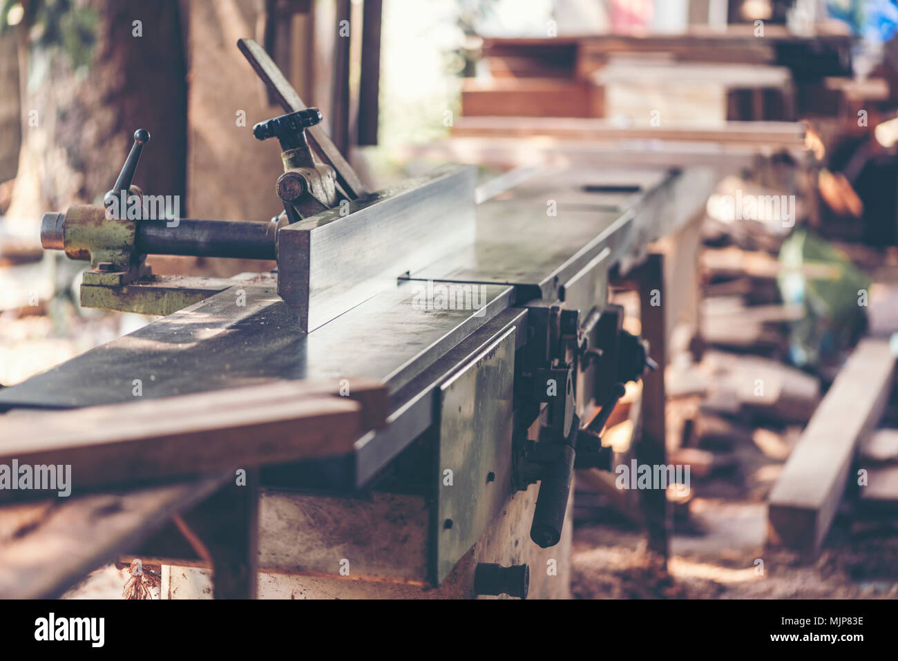 Background Image Of Woodworking Workshop Carpenters Work Table With