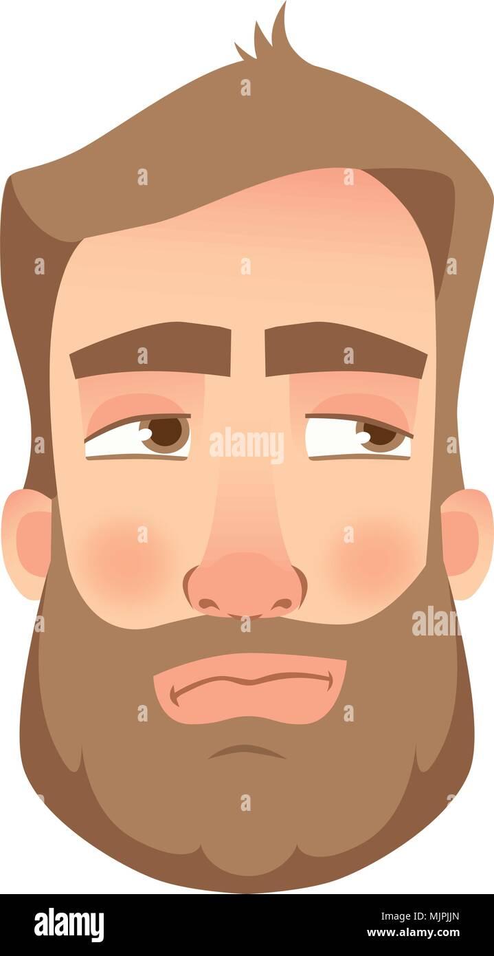 man face close up - Stock Image