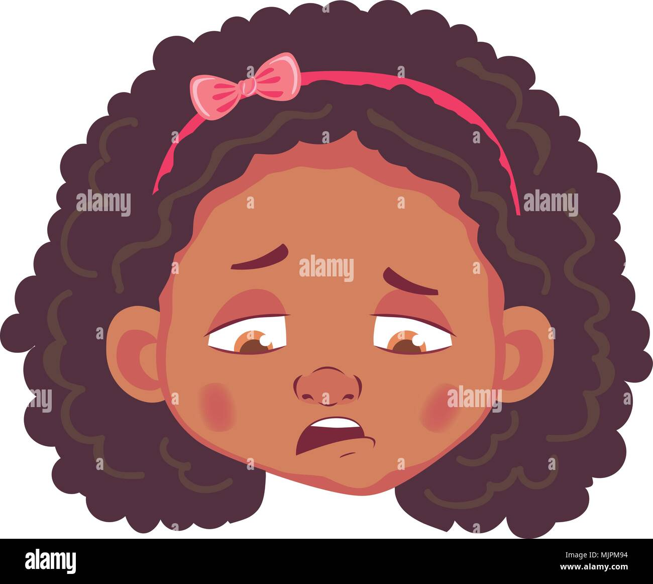 Sad Looking Girl Stock Vector Images Alamy Hand Towel Anak Character African