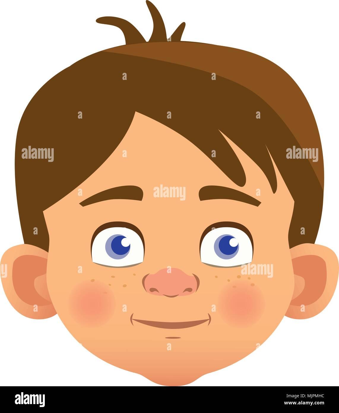 caucasian boy character Stock Vector