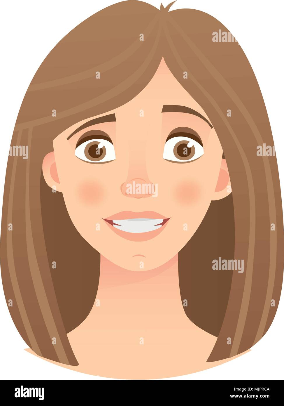 emotions of womans face - Stock Vector