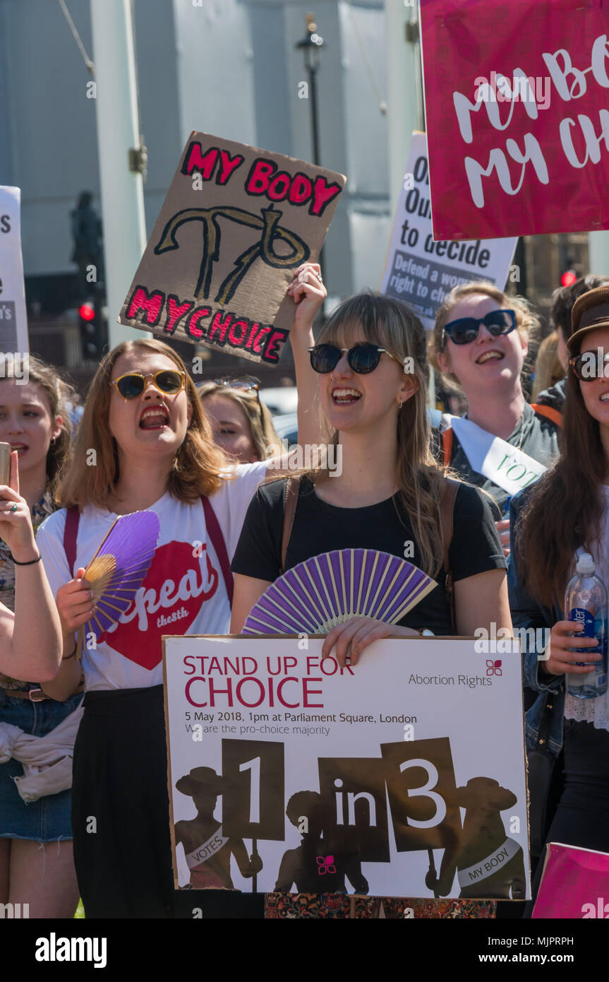 London, UK  5th May 2018  Women in the abortion rights