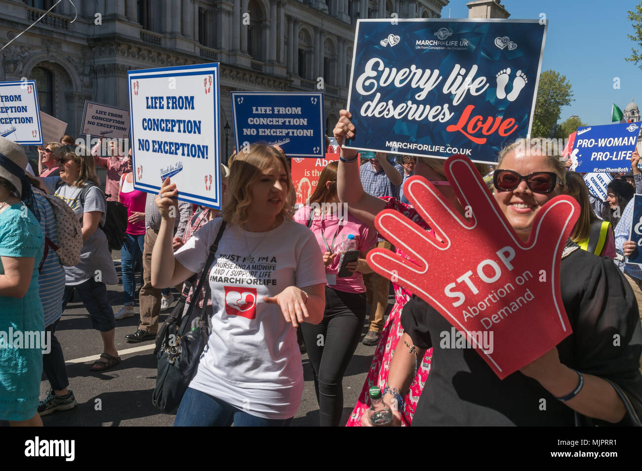 London, UK  5th May 2018  The March for Life UK, a largely Catholic