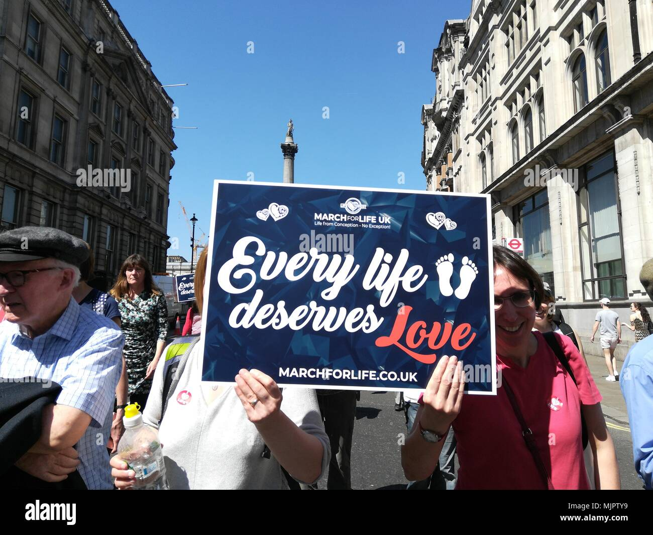 London, UK, 5 May 2018. Rally against abortions held on Whitehall in London Credit: Nastia M/Alamy Live News Stock Photo