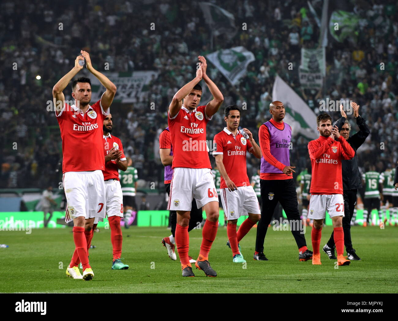 Lisbon portugal 5th may 2018 players of benfica greet the lisbon portugal 5th may 2018 players of benfica greet the spectators after portuguese league soccer match between sl benfica and sporting cp in lisbon m4hsunfo