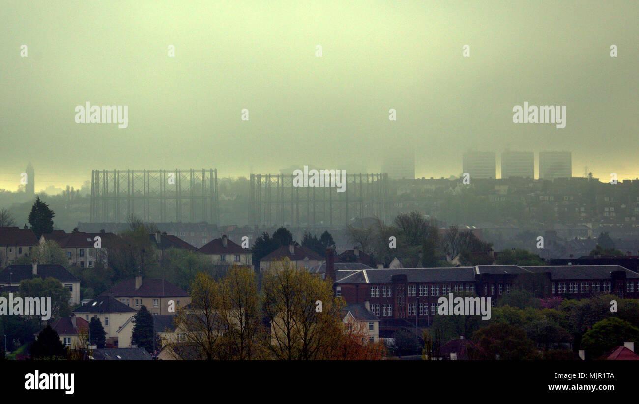 glasgow cloudy cityscape weather stock photos  u0026 glasgow