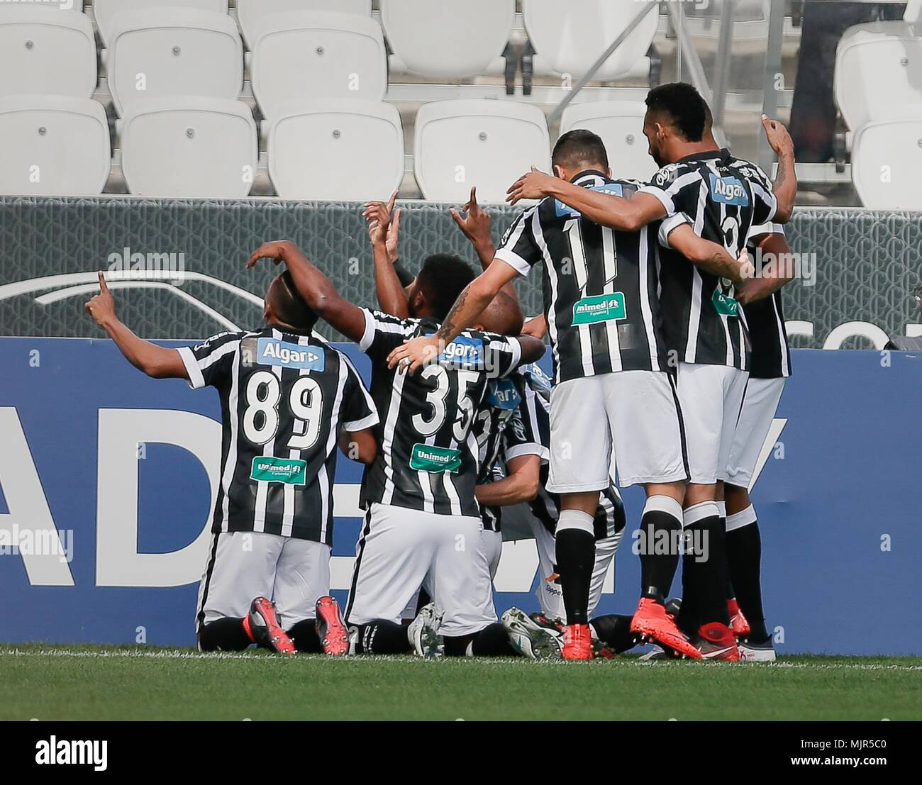 Sao Paulo Sp 06 05 2018 Corinthians X Ceara Wescley Of Ceara Sporting Club Celebrates After Scoring A Goal During Corinthians Vs Ceara Match Valid For The Fourth Round Of The 2018