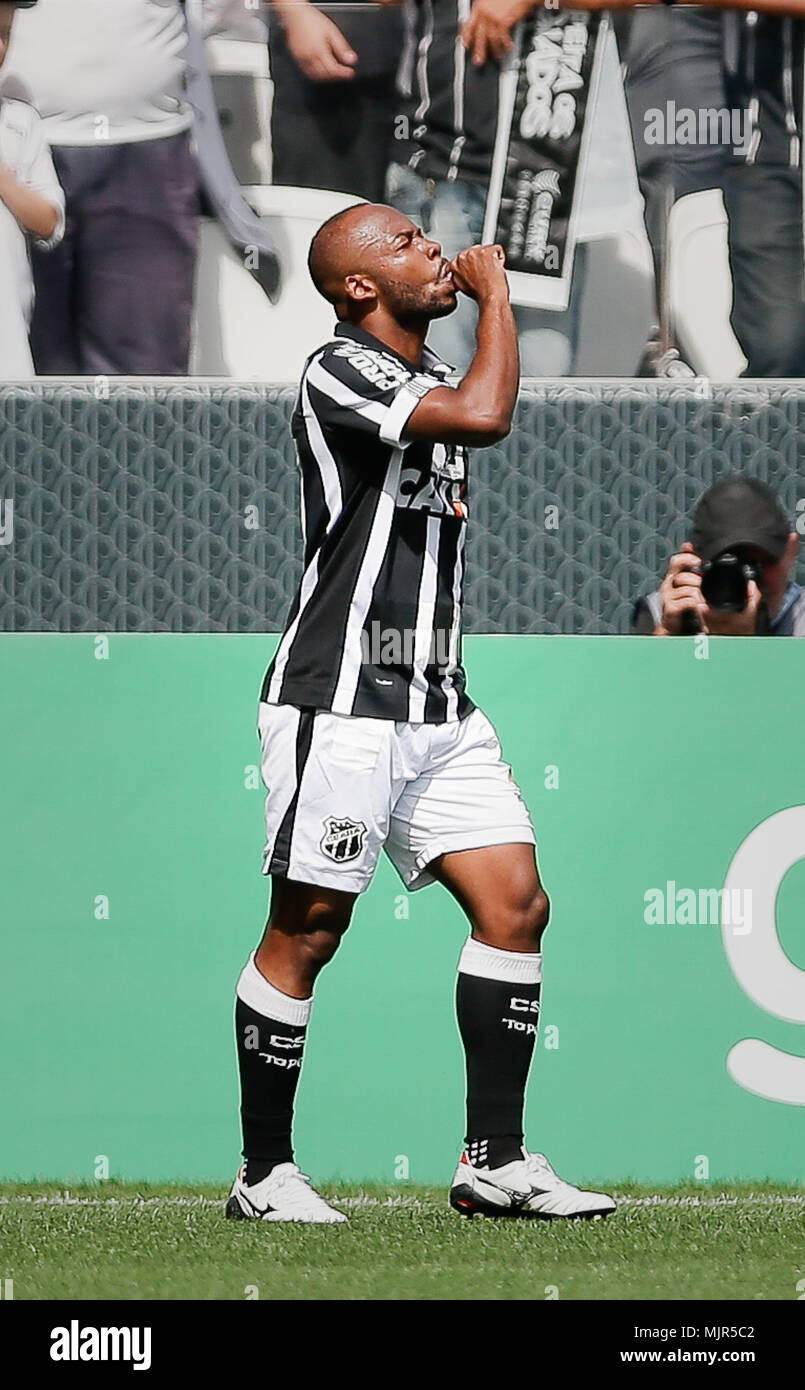 Sao Paulo Sp 06 05 2018 Corinthians X Ceara Wescley Of Ceara Sporting Club Celebrates After Scoring