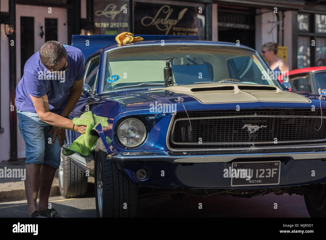Stratford on Avon, UK, 6 May 2018. Rare, Impressive and Classic Cars on public display  of all ages on public display in the town centre streets of Stratford on Avon, Warwickshire for the 6th & 7th May 2018 Bank Holiday's Stratford Festival of Motoring. Credit: 79Photography/Alamy Live News - Stock Image