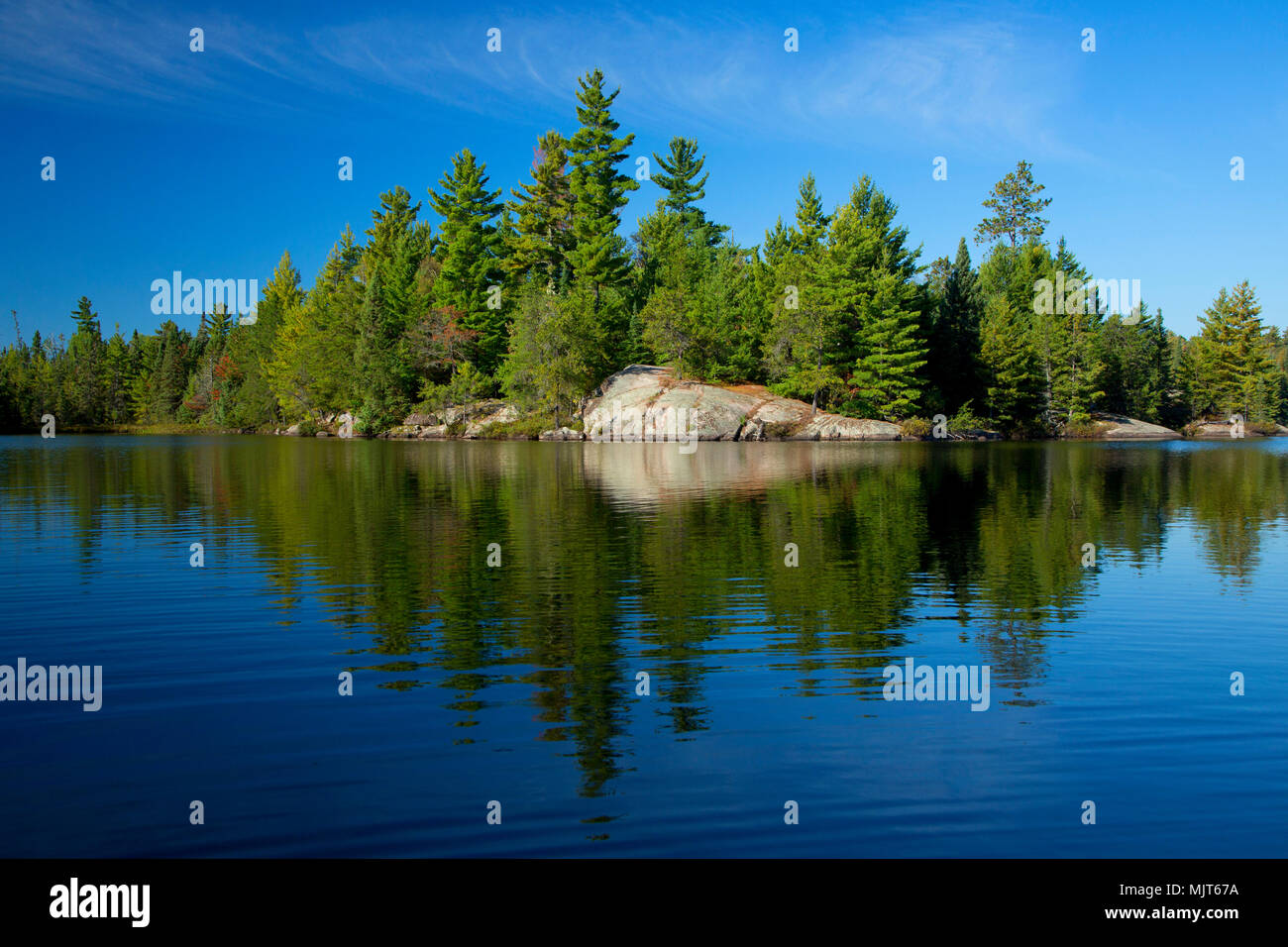 South Hegman Lake, Boundary Waters Canoe Area Wilderness, Superior National Forest, Minnesota - Stock Image