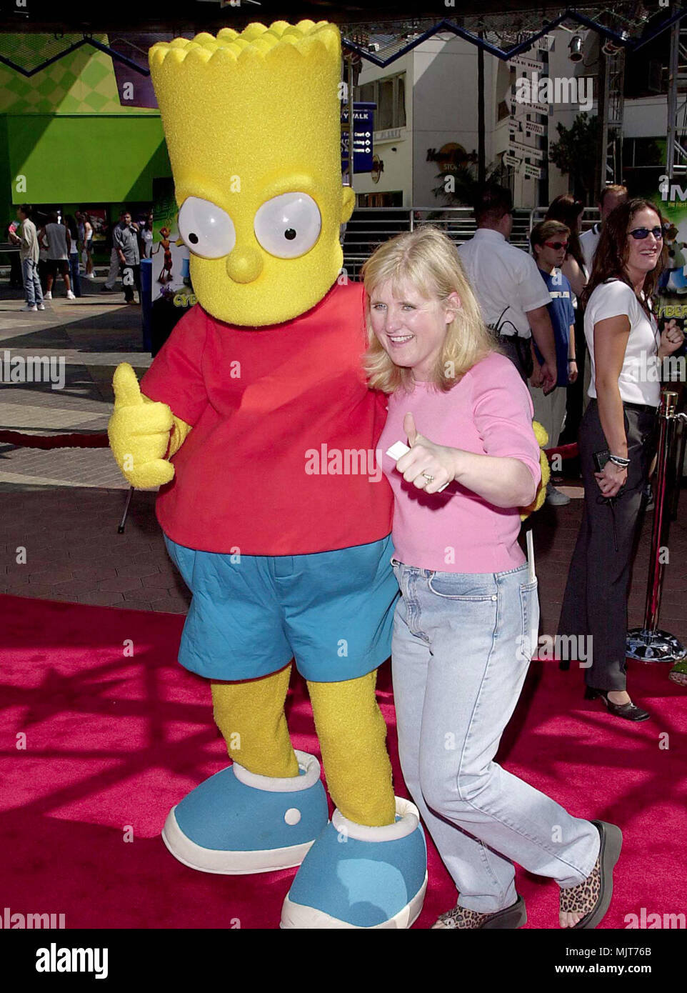 01 Oct 2000, Los Angeles, California, USA --- Nancy Cartwright and Bart Simpson at the 3 Dimensions Imax Feature of the animated 'Cyberworld 3D'. 10.1.00-Los Angeles, CA --- ' Tsuni / USA 'Nancy Cartwright and Bart Simpson Nancy Cartwright and Bart Simpson inquiry tsuni@Gamma-USA.com - Stock Image