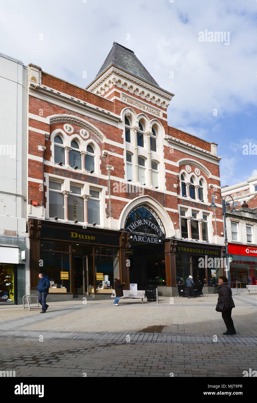 Thornton's arcade, Leeds - Stock Image