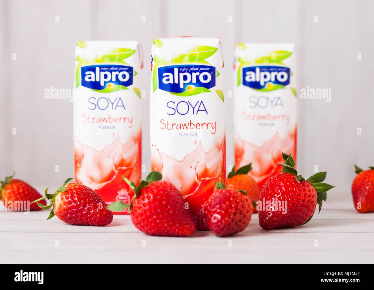 Soya Milk Alpro Stock Photos Soya Milk Alpro Stock Images