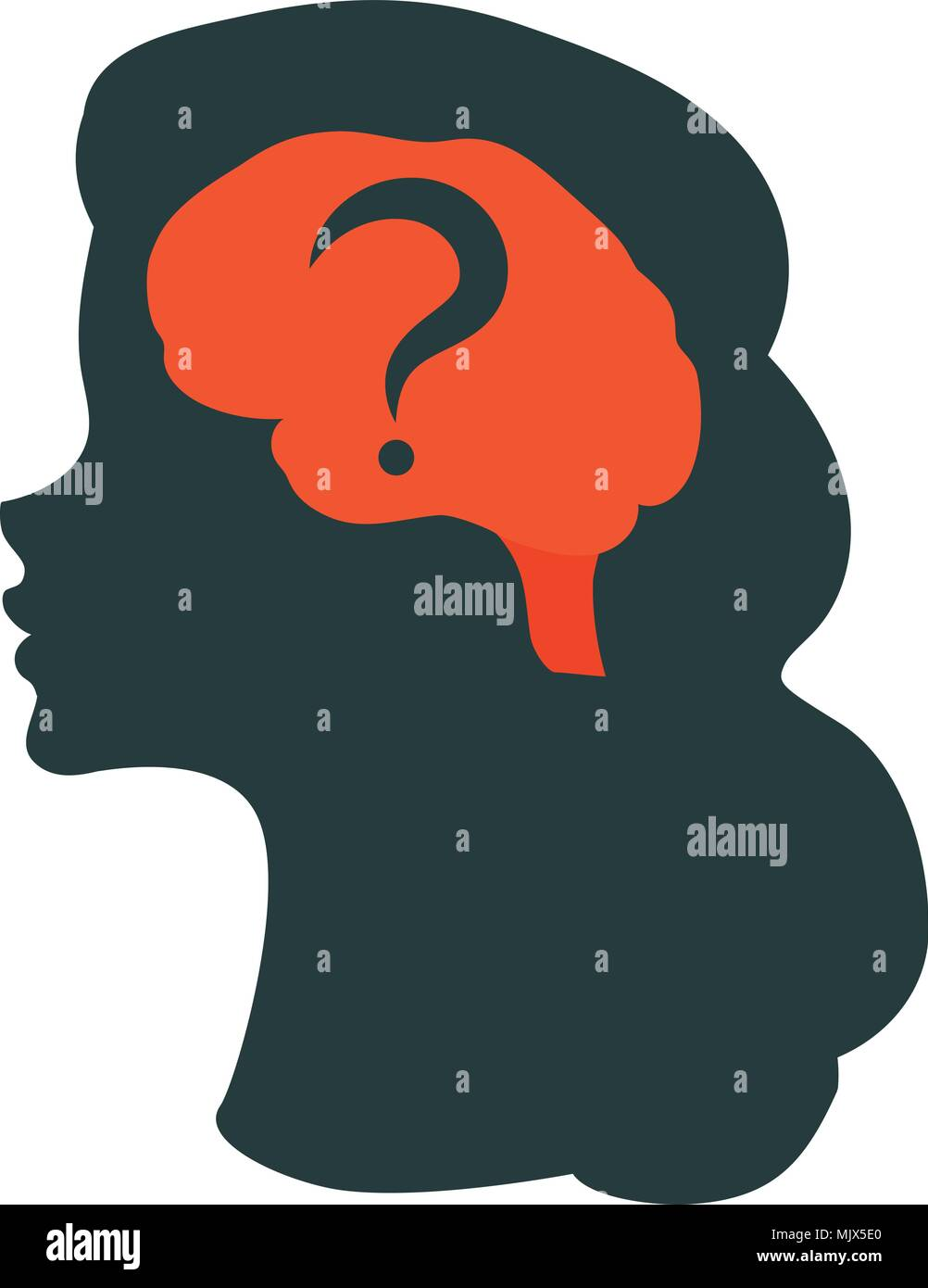 Human brain illustration - Stock Image