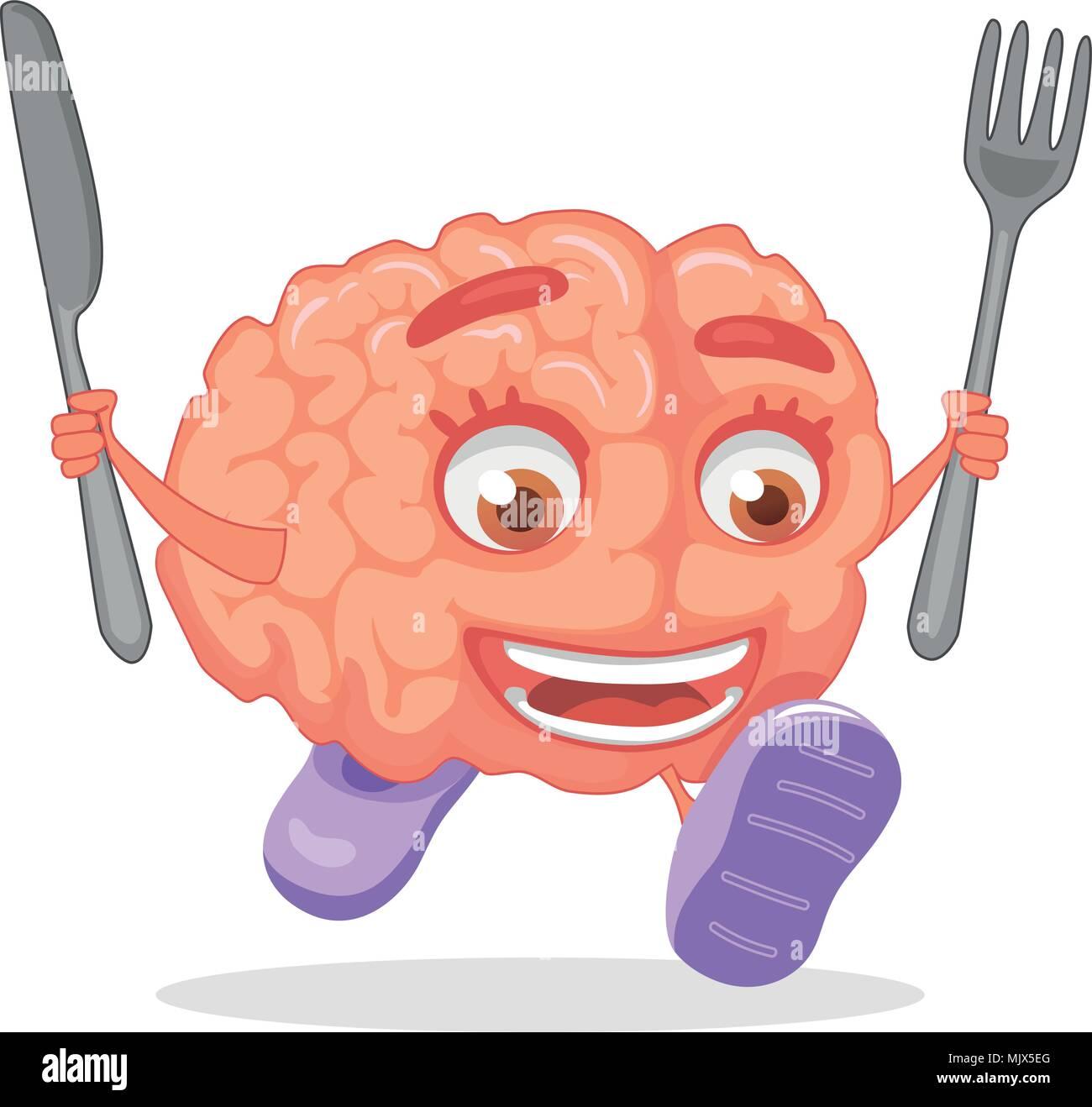 brain nutrition concept - Stock Image