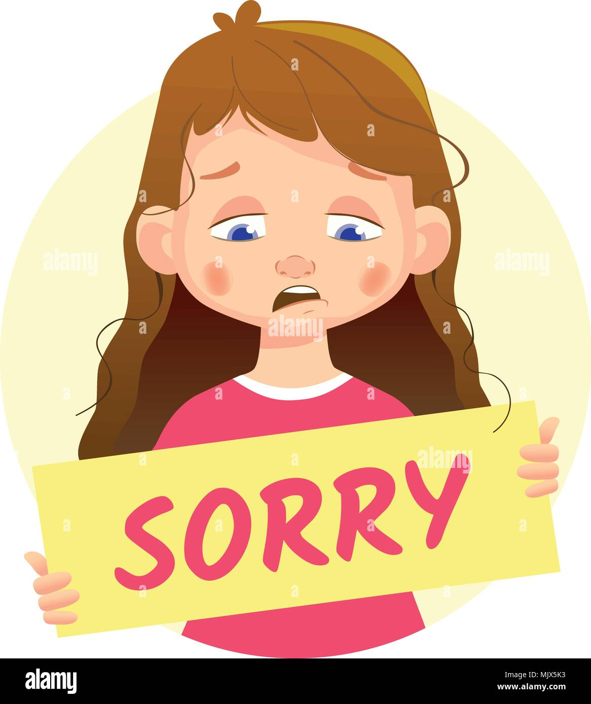 Sad Sorry Images: Sad Girl Stock Vector Images