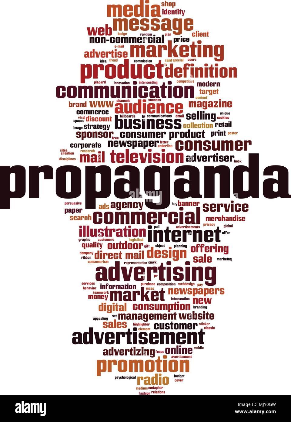 Propaganda word cloud concept. Vector illustration Stock Vector