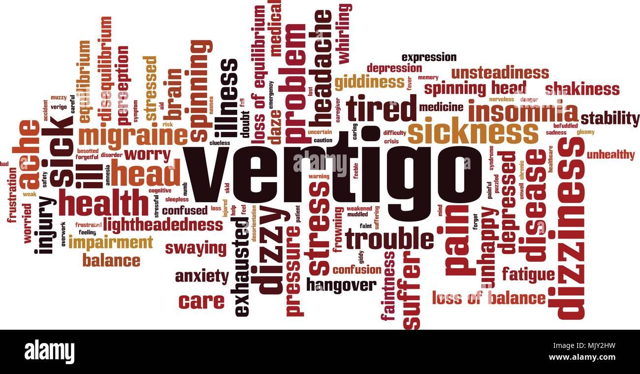 Vertigo word cloud concept. Vector illustration - Stock Vector