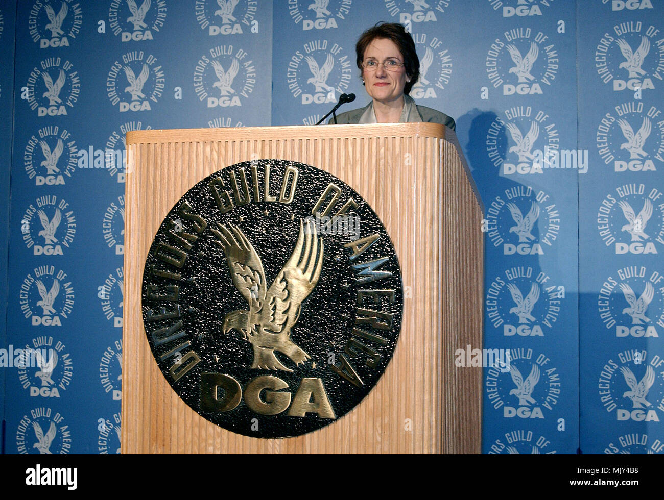 The president of th Director Guild of America, Martha Coolidge  Announce DGA nominees for Outstanding Directorial Achievement in Feature Film For 2002 at the DGA in Los Angeles. January 21, 2003          -            CoolidgeMartha_DGAann907.jpgCoolidgeMartha_DGAann907  Event in Hollywood Life - California,  Red Carpet Event, Vertical, USA, Film Industry, Celebrities,  Photography, Bestof, Arts Culture and Entertainment, Topix Celebrities fashion /  from the Red Carpet-, one person, Vertical, Best of, Hollywood Life, Event in Hollywood Life - California,  Red Carpet and backstage, USA, Film In - Stock Image