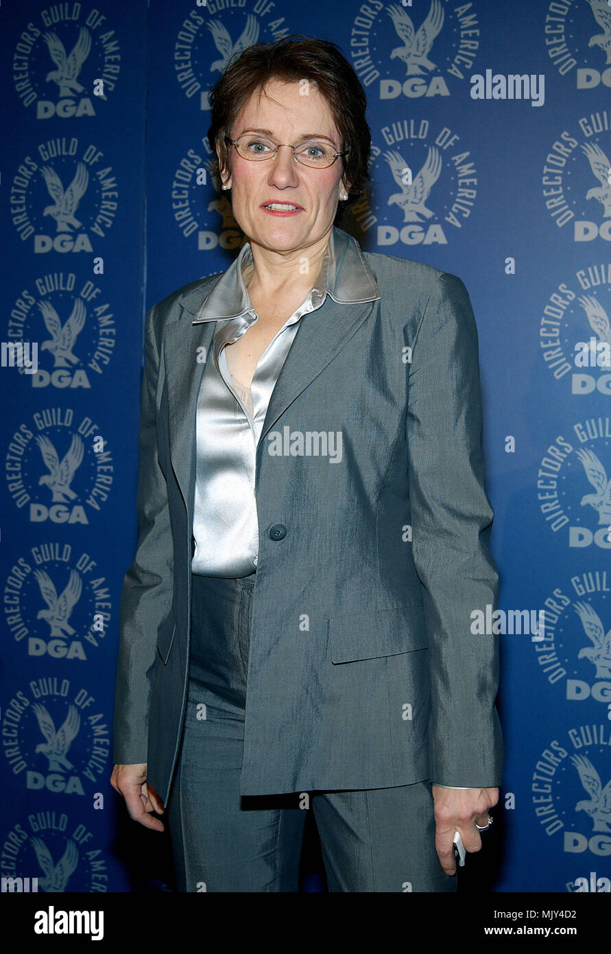 The president of th Director Guild of America, Martha Coolidge  Announce DGA nominees for Outstanding Directorial Achievement in Feature Film For 2002 at the DGA in Los Angeles. January 21, 2003.          -            CoolidgeMartha_DGAann909.jpgCoolidgeMartha_DGAann909  Event in Hollywood Life - California,  Red Carpet Event, Vertical, USA, Film Industry, Celebrities,  Photography, Bestof, Arts Culture and Entertainment, Topix Celebrities fashion /  from the Red Carpet-, one person, Vertical, Best of, Hollywood Life, Event in Hollywood Life - California,  Red Carpet and backstage, USA, Film I - Stock Image