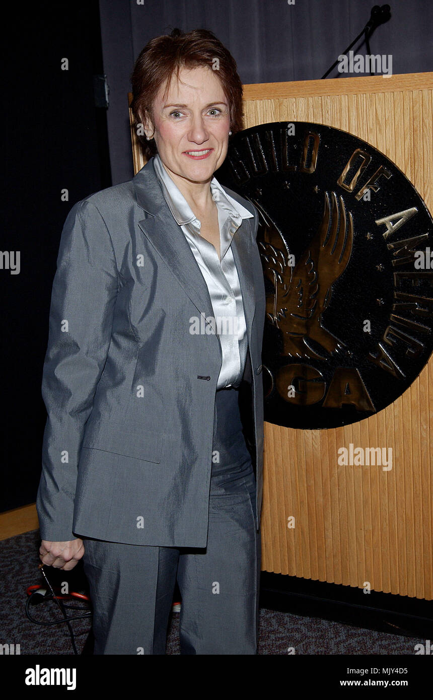The president of th Director Guild of America, Martha Coolidge  Announce DGA nominees for Outstanding Directorial Achievement in Feature Film For 2002 at the DGA in Los Angeles. January 21, 2003.          -            CoolidgeMartha_DGAann911.jpgCoolidgeMartha_DGAann911  Event in Hollywood Life - California,  Red Carpet Event, Vertical, USA, Film Industry, Celebrities,  Photography, Bestof, Arts Culture and Entertainment, Topix Celebrities fashion /  from the Red Carpet-, one person, Vertical, Best of, Hollywood Life, Event in Hollywood Life - California,  Red Carpet and backstage, USA, Film I - Stock Image