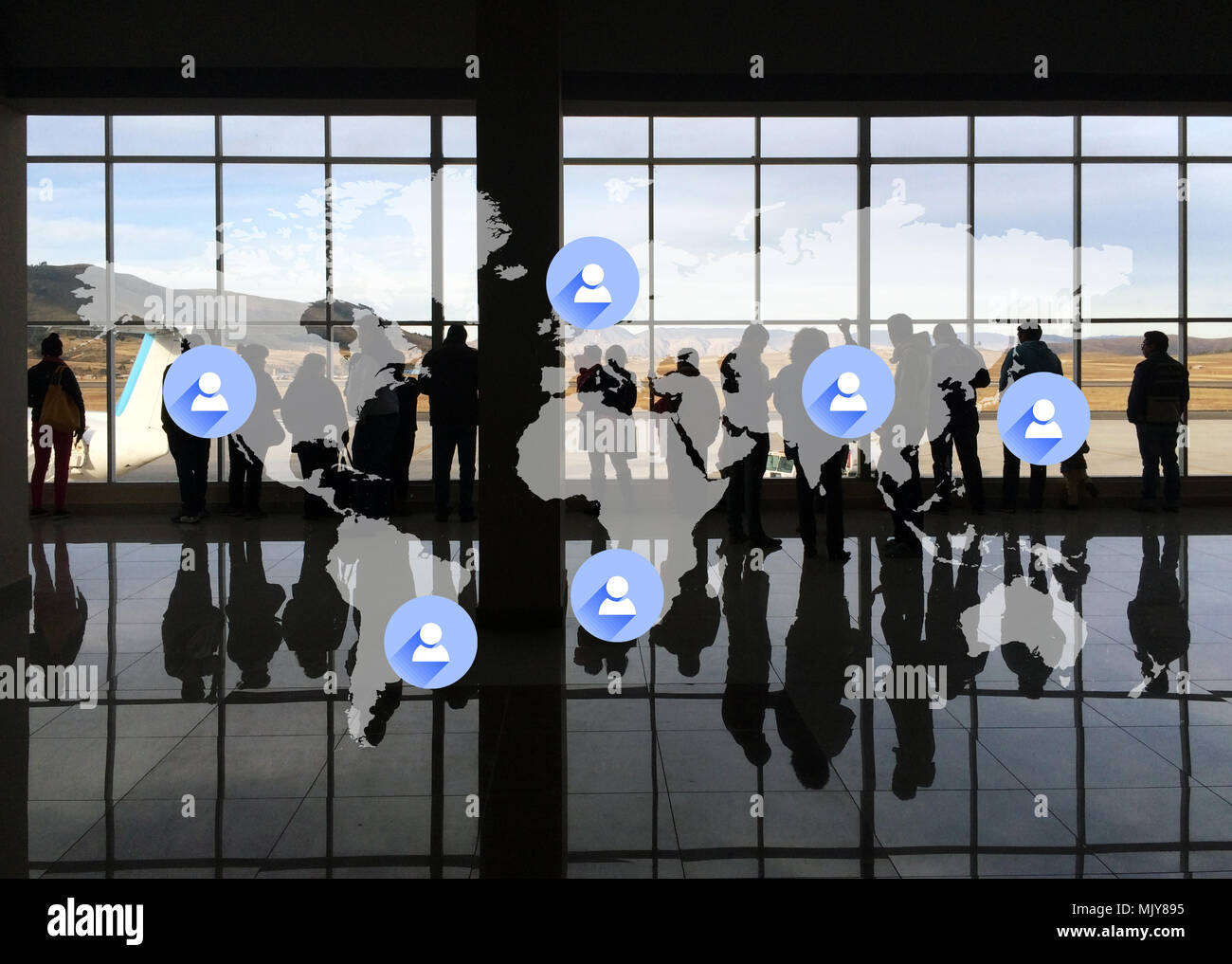 Globalization and Corporate Travel - Stock Image