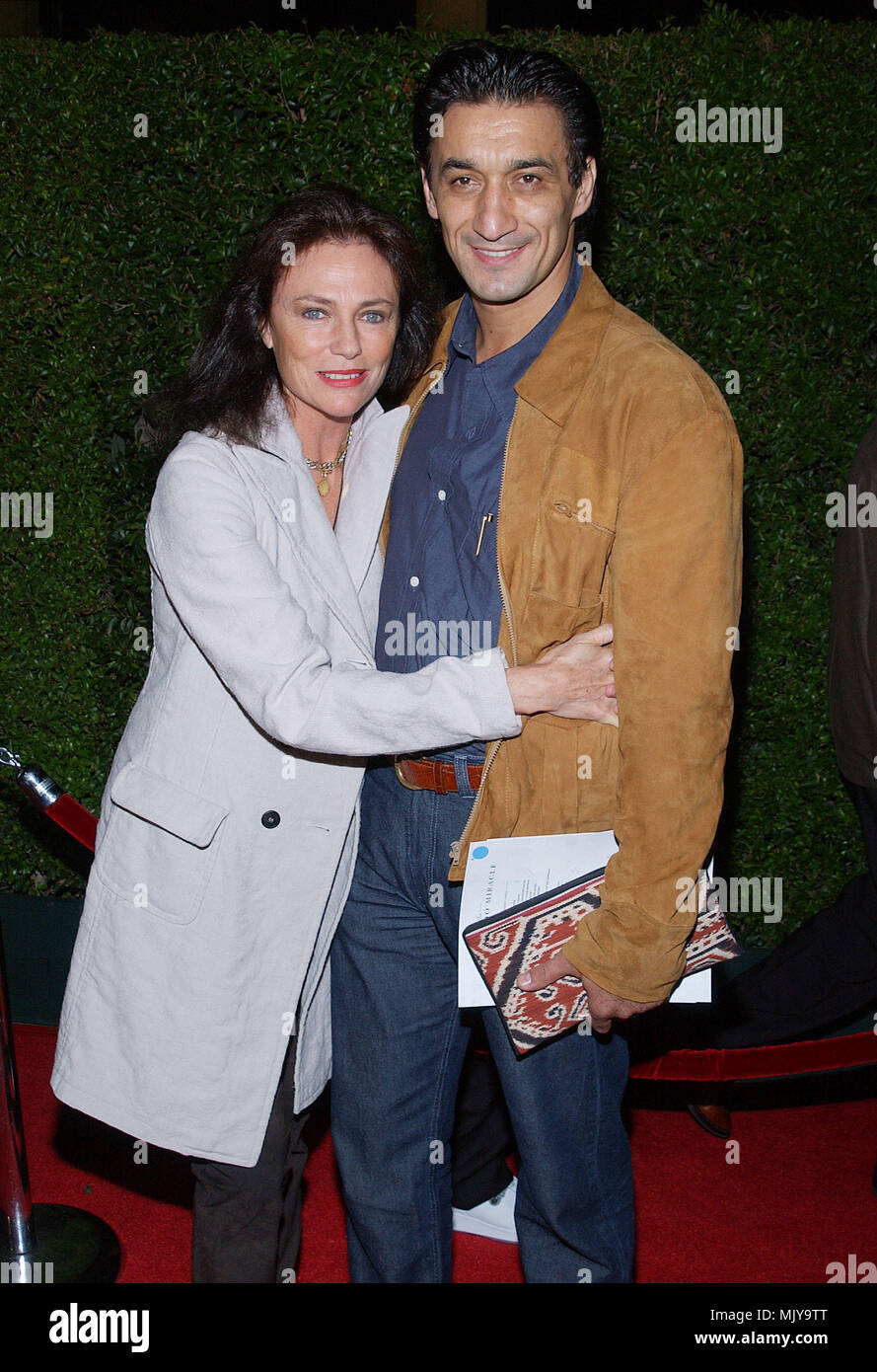 Jacqueline Bisset and Emin Boztepe arriving at the ' Maldonado Miracle Premiere ' at the Samuel Goldwyn Theatre in Los Angeles. October 2, 2003.          -            BissetJacq_BoztepeEmin11.JPG           -              BissetJacq_BoztepeEmin11.JPGBissetJacq_BoztepeEmin11  Event in Hollywood Life - California,  Red Carpet Event, Vertical, USA, Film Industry, Celebrities,  Photography, Bestof, Arts Culture and Entertainment, Topix Celebrities fashion /  from the Red Carpet-, Vertical, Best of, Hollywood Life, Event in Hollywood Life - California,  Red Carpet , USA, Film Industry, Celebrities,  - Stock Image