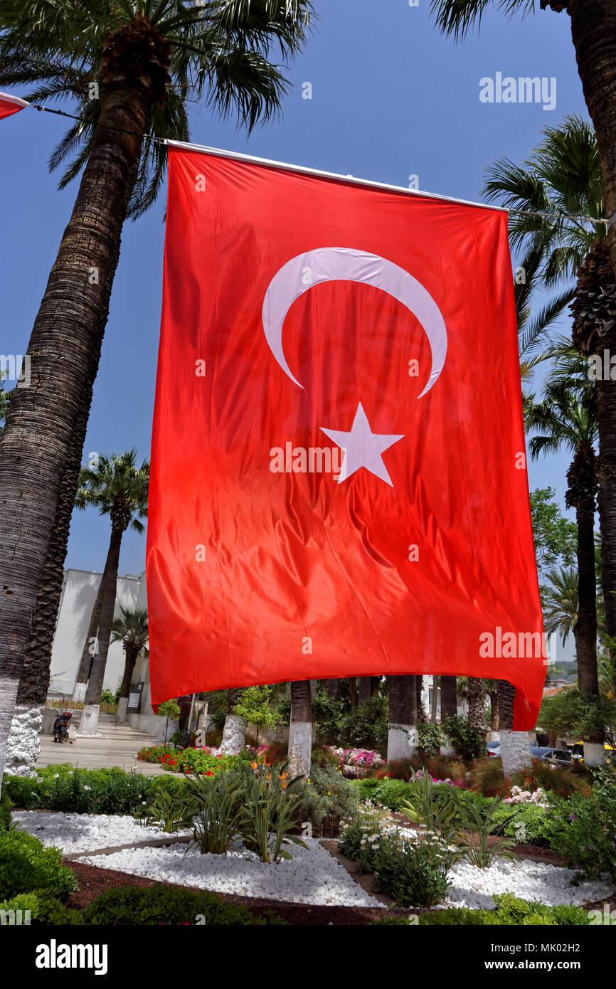 Turkish flag banner - Stock Image
