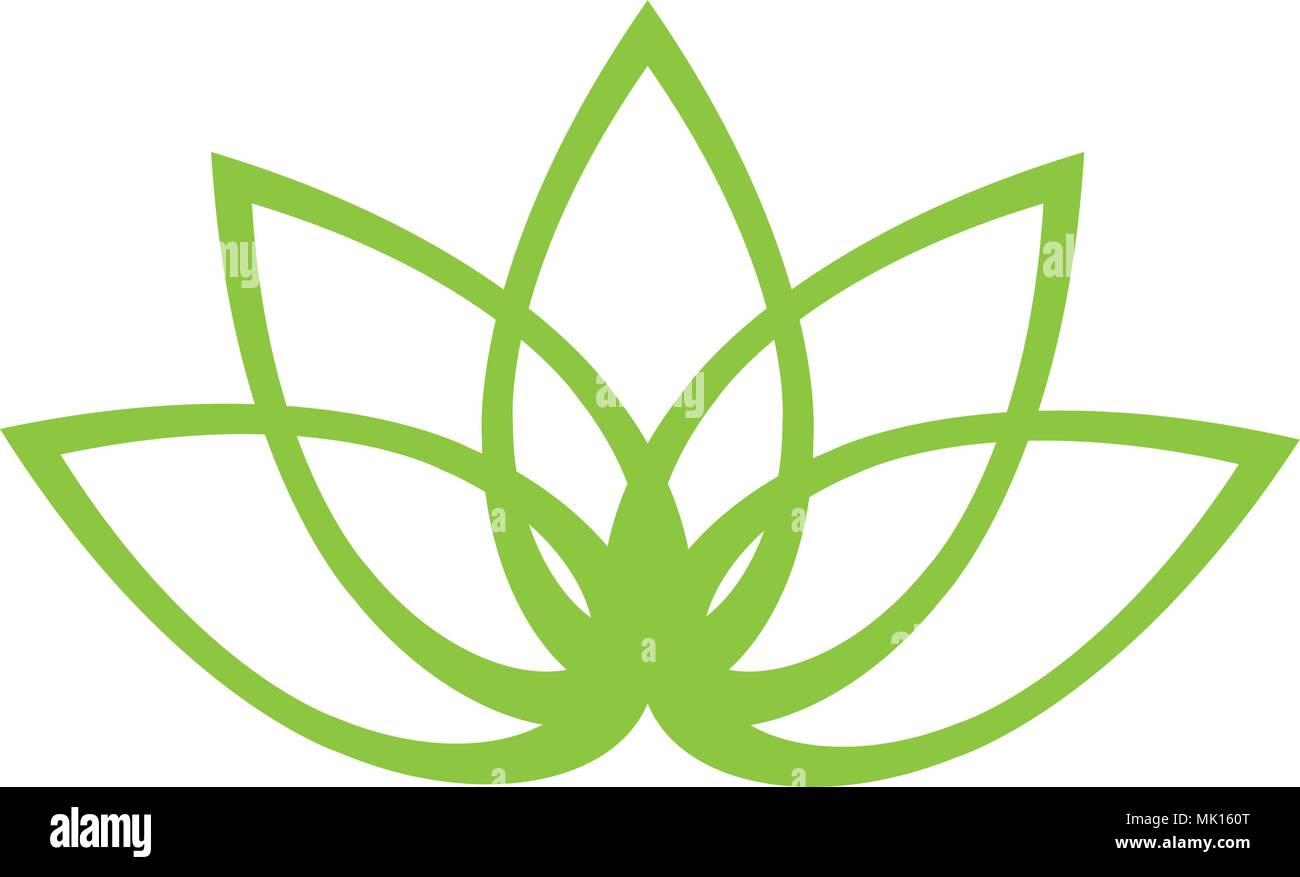 Outline Of A Lotus Flower Stock Vector Art Illustration Vector