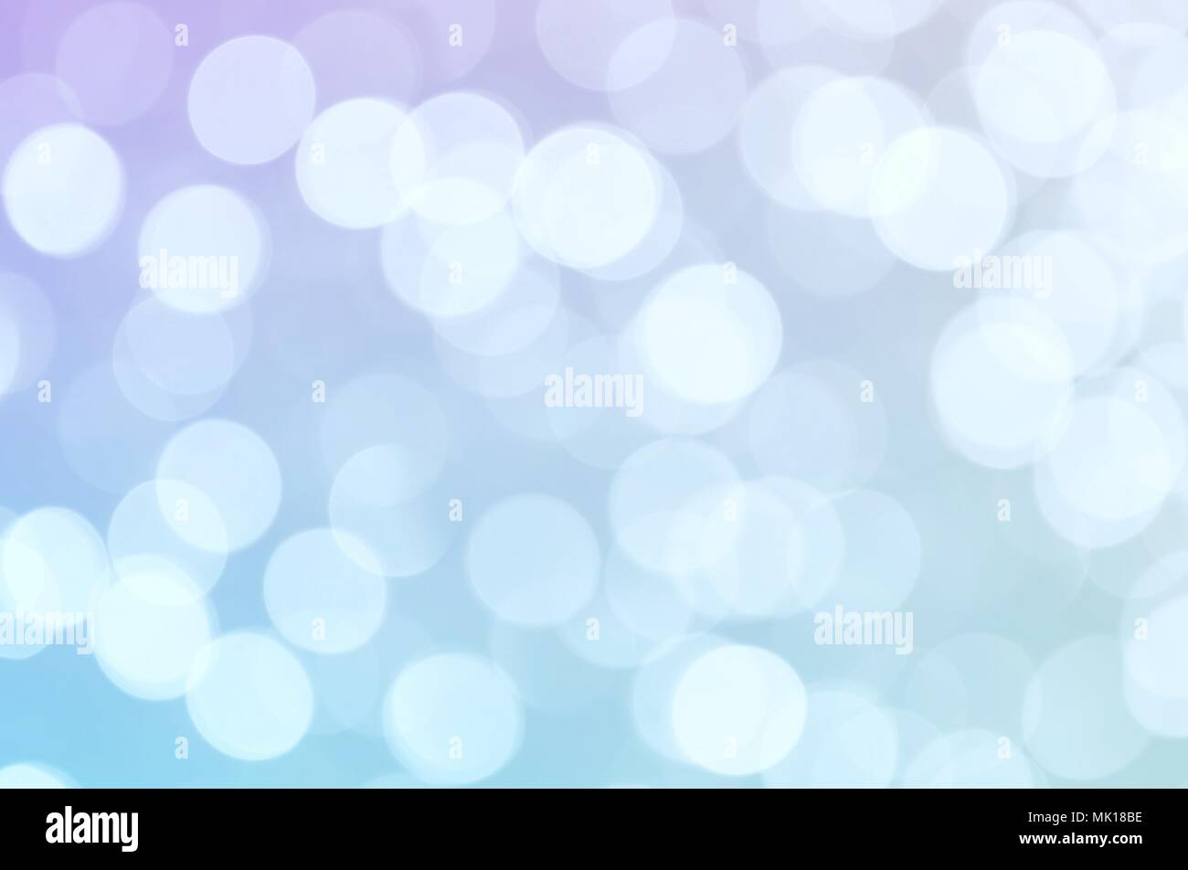 Abstract blue violet color blurred bokeh light / water reflection for background - Stock Image