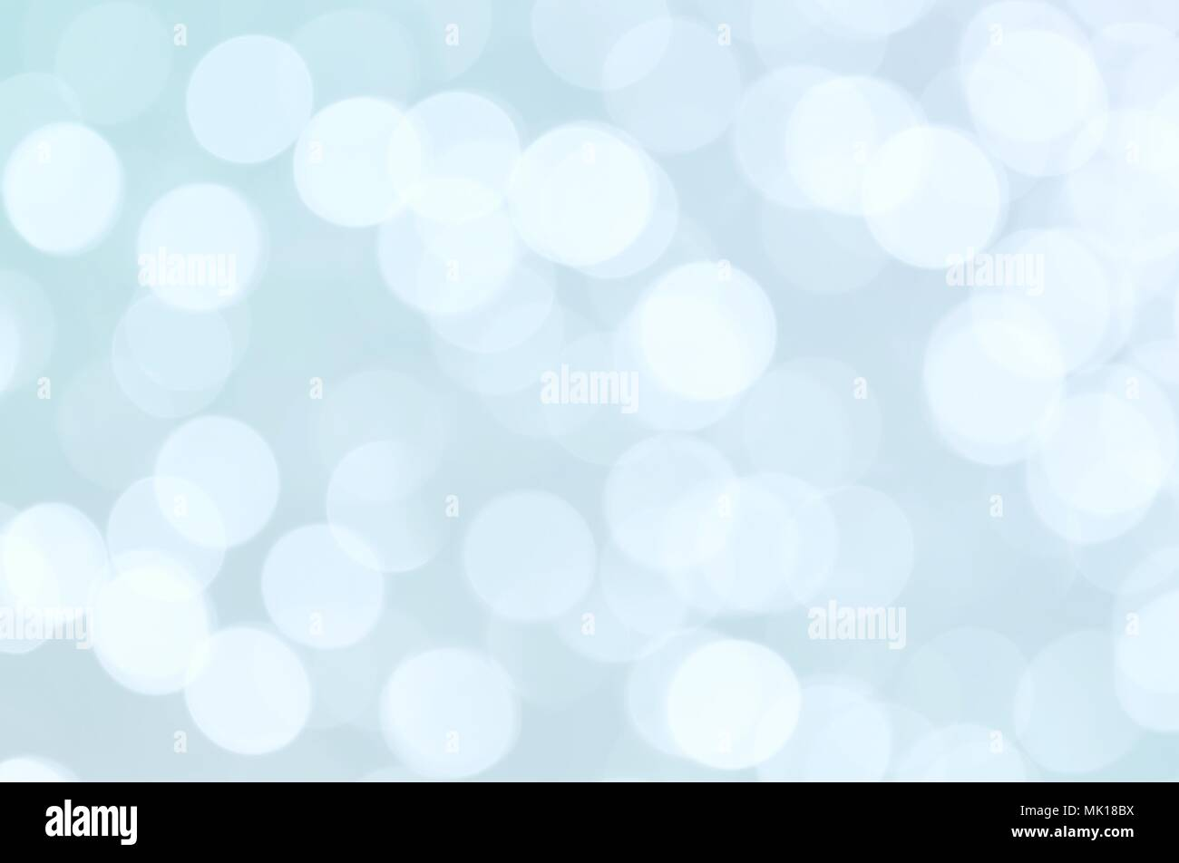 Abstract blue color blurred bokeh light / water reflection for background - Stock Image