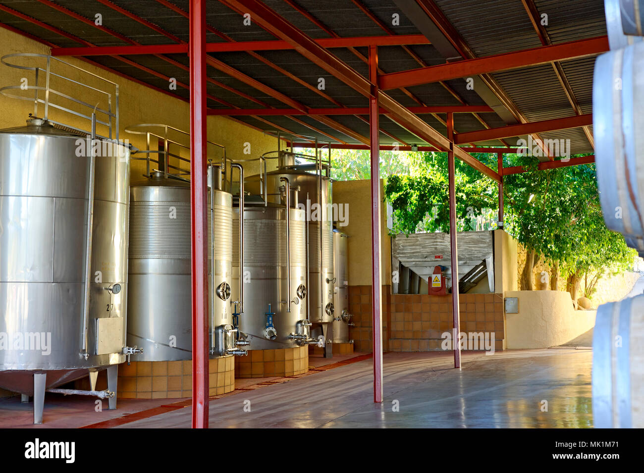 Winery in the Alicante region Spain - Stock Image