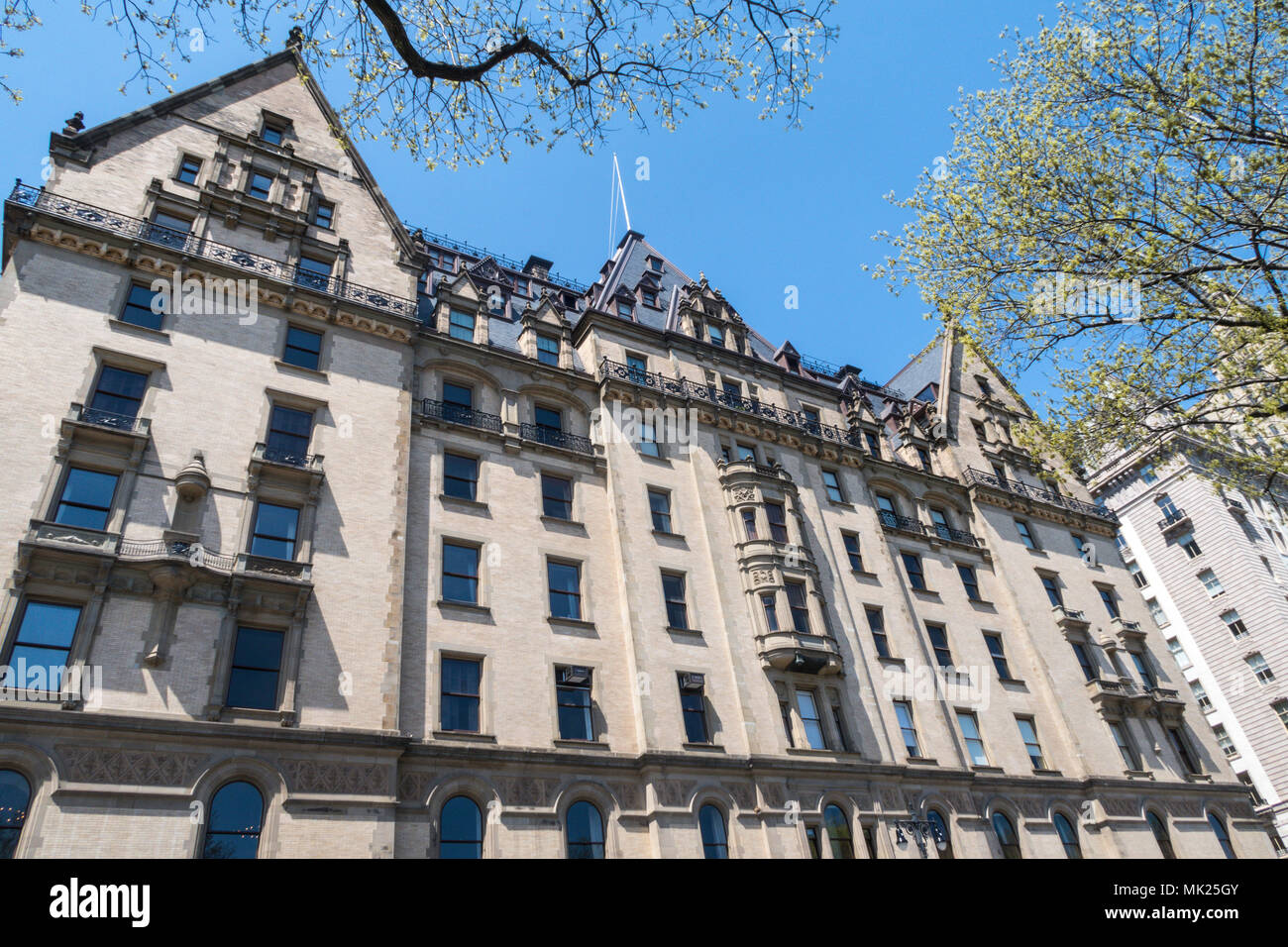 The Dakota Co-op Apartment House, Central Park West, NYC Stock Photo