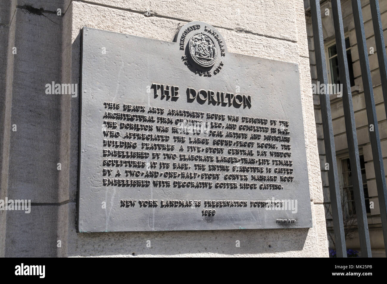 The Dorilton is an Historic Beaux-Arts Apartment House on the Upper West Side of Manhattan in New York City, USA Stock Photo