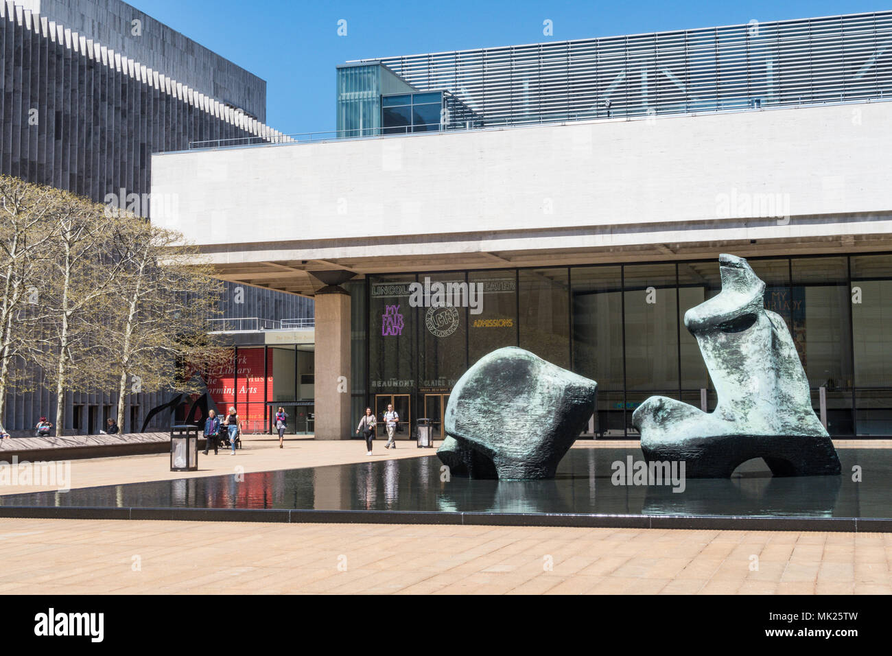 Hearst Plaza at Lincoln Center for the performing arts, NYC, USA - Stock Image