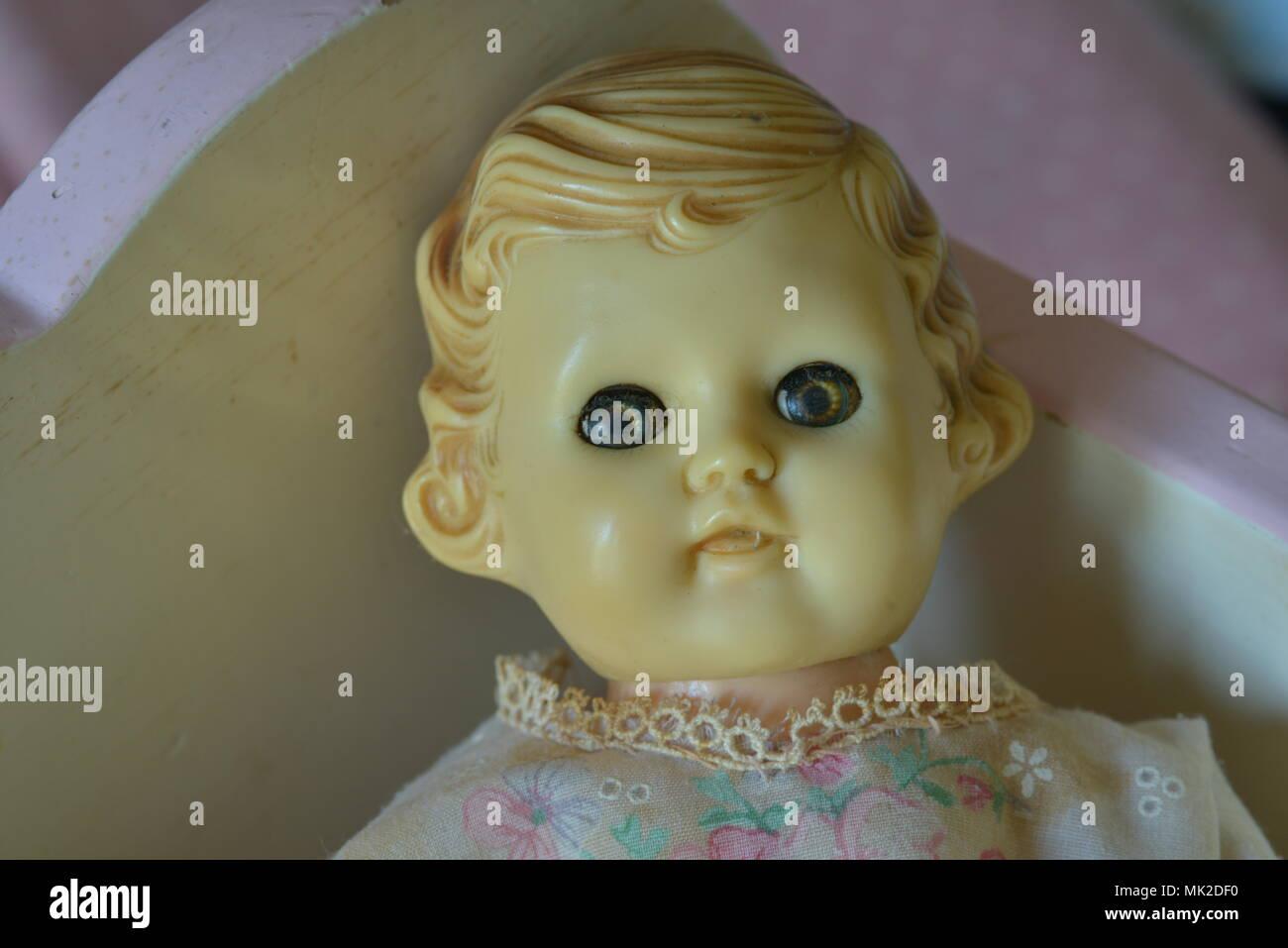 1950's Tiny Tears Doll - Stock Image