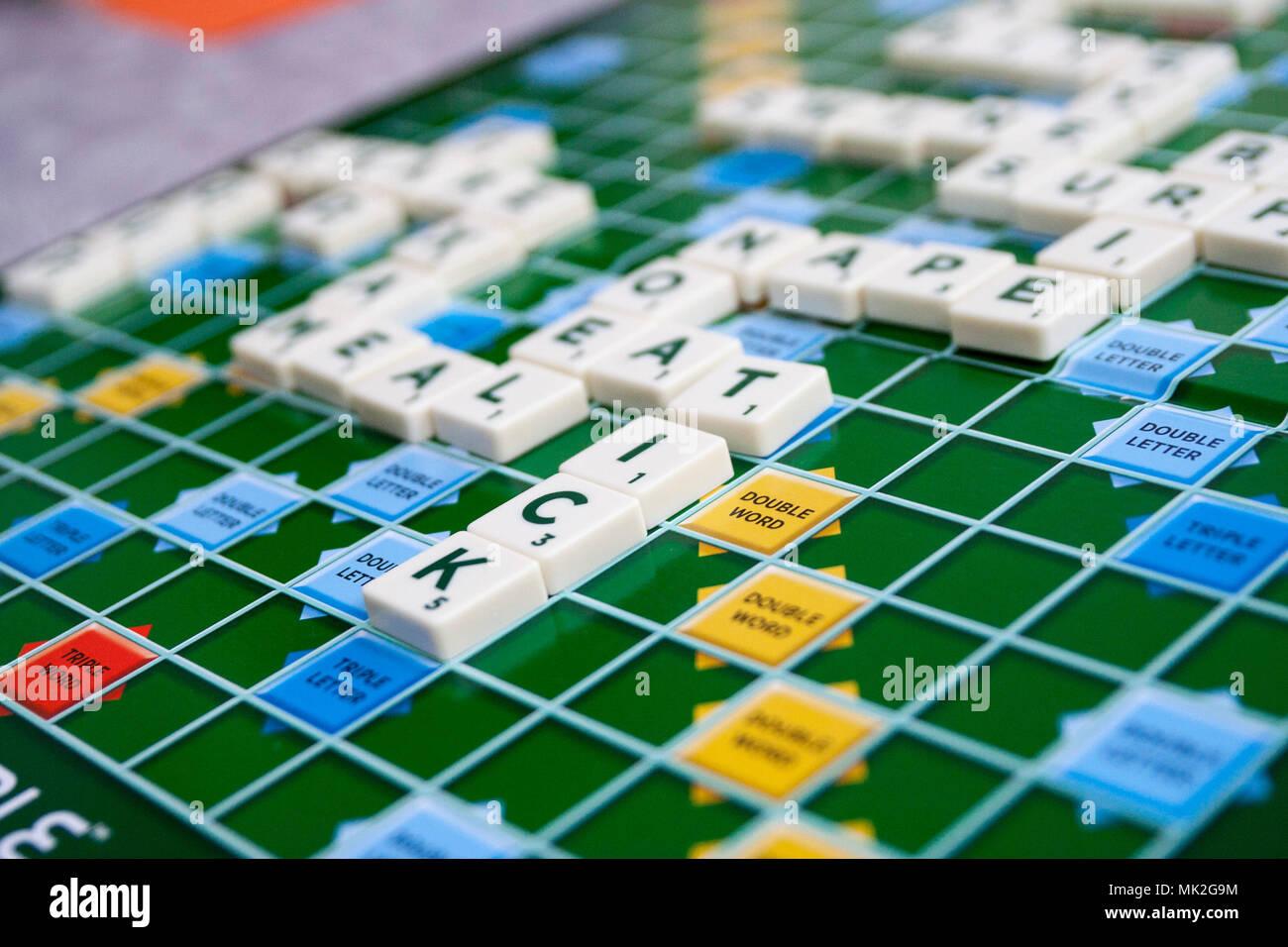 Scrabble Board Stock Photos & Scrabble Board Stock Images