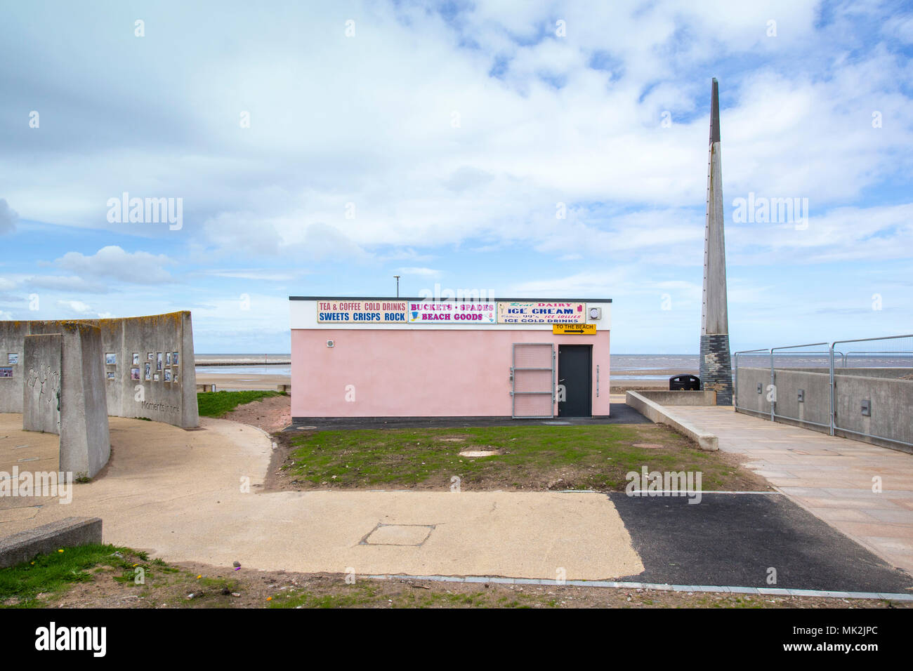 Beach cafe seafront  in Rhyl Denbighshire Wales UK Stock Photo