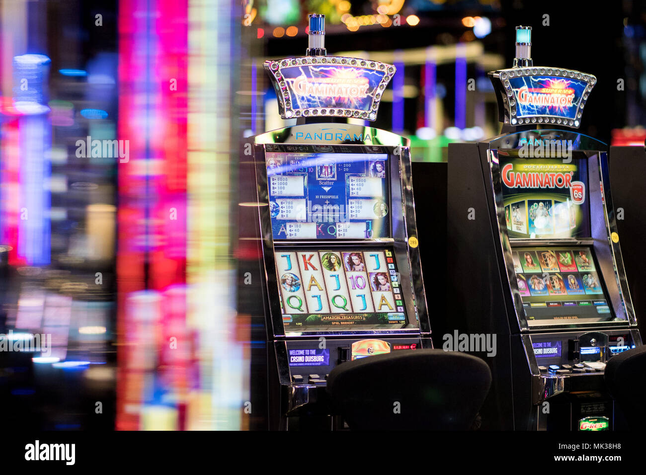 04 May 2018 Germany Duisburg Slot Machines Stand Inside The Westspiel Casino The State Of North Rhine Westphalia Plans To Sell The Casino Group Westspiel Photo Marcel Kusch Dpa Stock Photo Alamy