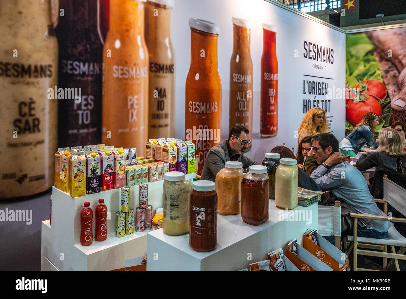 Stand of the Catalan brand Sesmans Sauces  BioCultura, the Organic