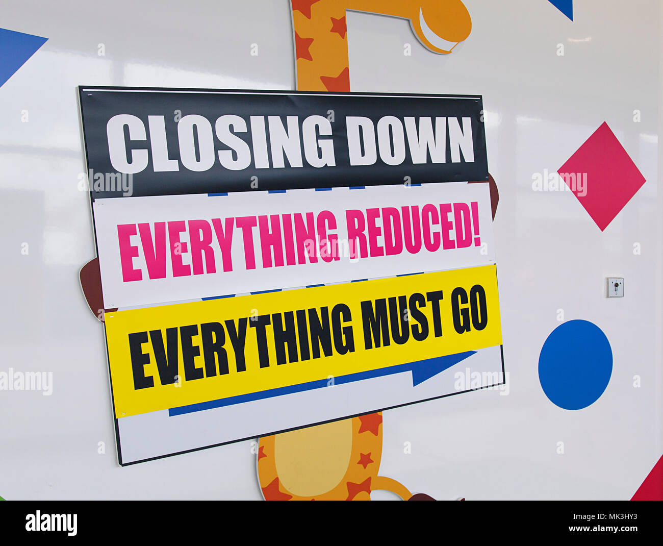 Toys R Us Closing Sign : Swansea uk march  front view of a toys r us